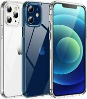 Clear Silicone TPU Rubber Cover Case For Apple iPhone 12 / 11 Pro / Pro Max Mini