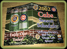 2002 CHICAGO CUBS OLD STYLE BEER WGN BASEBALL POCKET SCHEDULE