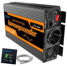 Inversor ONDA PURA 1000W 2000W 12V 220V Convertidor Inverter Transforma 2.1A USB