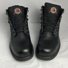 Brahma steel toe work boots Black Size 11W. Oil And Slip Resistant