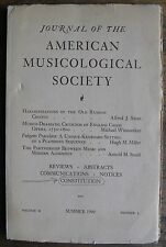 Journal of the American Musicological Society Summer 1949 Vol 2, No 2