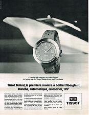 PUBLICITE  1970   TISSOT montre SIDERAL