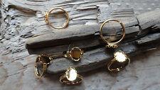 Little Ring Hamilton Gold Plated Adjustable 8x10mm Lacy Bezel (Pkg 6) 0307Adult