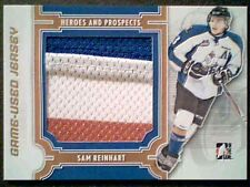 SAM REINHART  13/14 AUTHENTIC 3-COLOR PIECE WITH SEAMS OF A GAME-USED JERSEY /10