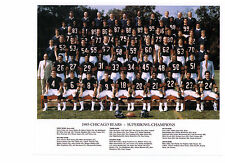 Chicago Bears 1985 Super Bowl XX Team 8x10 Color Photo Walter Payton Etc NFL