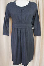 Spense Petite Sz PXS Heather Charcoal Grey Sweater Dress Casual