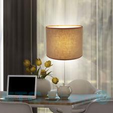 LUXE LAMPE DE TABLE salle à manger Couloir lecture abat-jour souple marron