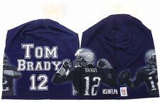 New England Patriots TOM BRADY  Stretch Knit Polyester Spandex Beanie Cap NFLPA