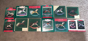 Hallmark Keepsake Ornaments Rocking Horse collectors Series Lot of 13