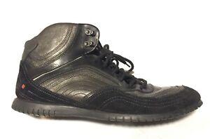 Hugo Boss Orange Label Lace Up Men's Leather Casual Ankle Boots Sz EU 44 / US 11