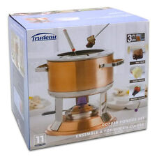 Trudeau 11 Piece 3-in-1 Lumina Copper Fondue Set - Brand New