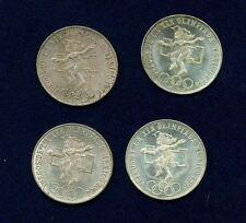 "MEXICO   1968  25 PESOS ""OLYMPIC"" SILVER COINS, UNCIRCULATED!  LOT OF (4)!!"