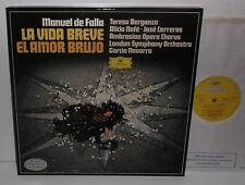 2707 108 De Falla La Vida Breve El Amor Brujo Carreras LSO Navarra 2LP Box Set