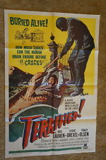 TERRIFIED   BURIED ALIVE  HORROR  ONE SHEET 1963