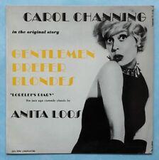 Carol Channing ~ Anita Loos Les Gentlemen Prefer Blondes ~ UK 1962 VINYL LP record