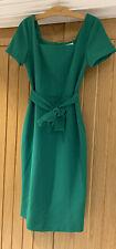BNWT Warehouse Green Square Neck Crepe Dress - Size 10