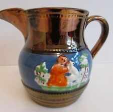 Antique Copper Lustre Victorian Jug Luster Ware 3.4""