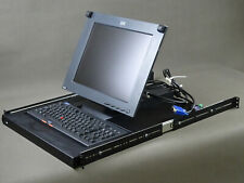 IBM KVM Monitor Type 9511-AG4 Keyboard DE Rackmount Console PS2 VGA P/N 22P6927