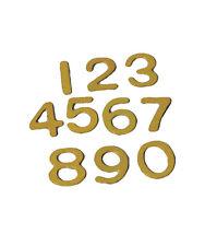 Brass Dolls house Door Numbers