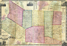 1856 Map of Fulton County New York from actual surveys