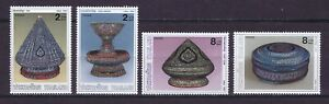U0173 THAILAND  1990 Mother of pearl ilaid containers  MNH