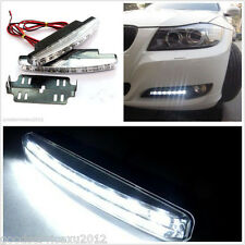 2 Pcs 12V White 8LED Car SUV DRL Daytime Running Lights Fog Lamps For Chevrolet