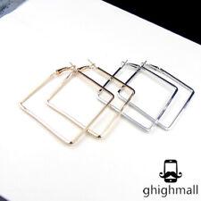 New Women Fashion Style Simple Square Earring Street Style Ear Stud Earrings