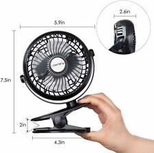 Portable Clip Fan,Rechargeable Battery Operated USB Fan, Mini Desk Fan NEW