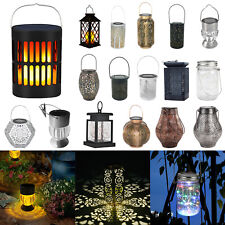 Solar Led Lantern Light Outdoor Waterproof Garden Patio Landscape Hanging Lamp