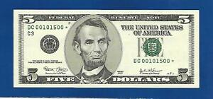 2003 CHCU $5 STAR NOTE PHILADELPHIA DISTRICT ONLY 640000 PRINTED