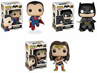 Funko POP! DC Heroes ~ BATMAN v. SUPERMAN (& WONDER WOMAN) VINYL FIGURE SET