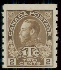 CANADA #MR7a 2¢ + 1¢ Coil, type I, og, NH, VF, Scott $510.00