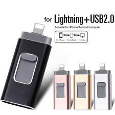 3 in 1 USB Flash Drive Pen Memory Stick For iPhone Ipad IOS Android PC USB 2.0