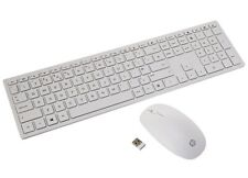 HP Pavilion 800 Wireless Keyboard & Mouse Set White New, Opened Not Used RRP £47