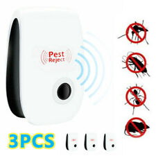 More details for 3× ultrasonic plug in pest repeller deter mouse mice rat insect repellent uk
