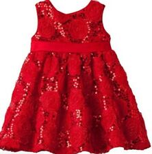 New! Girls Rare Editions Red Rose Sequins Holiday Christmas Dress Size 12 month