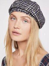 NEW Free People Eloise Tweed Plaid Beret Hat Cap 5fe40ae5306
