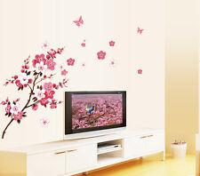 Wholesale Peach Blossom Butterfly Wall Stickers DIY Vinyl Art Decals Decor Mural