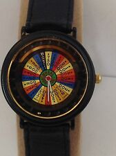 Sharp  Wheel of  Fortune black  Quartz  Watch Collectible
