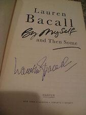 Lauren Bacall Unterzeichnet Autogramm Buch von Myself und Dann Einige Persönlich