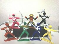 """Vintage Lot Of 7 Power Rangers Action Figures With Weapons Complete PVC 3"""""""