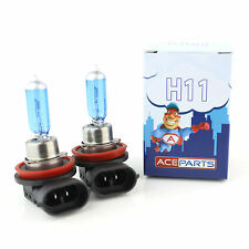 Renault Scenic MK2 55w Super White Xenon HID Front Fog Light Bulbs Pair