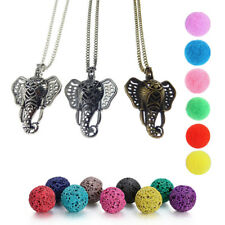 New 3 Color Elephant Diffuser Locket Pendant Aromatherapy Essential Oil Necklace