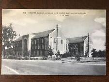 Chemistry Bldg, Michigan State College, East Lansing MI postcard d7