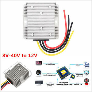 Universal Automatic Voltage Regulator 8V-40V to 12V Car Power Supply Regulator