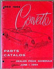 PARTS CATALOG ~ 1953-1954 CORVETTE