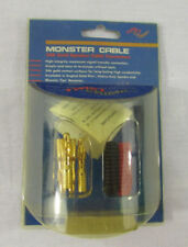 NEW Monster Cable 24K Gold Speaker Cable Connectors Twist Crimp MTT-MH (4-Pack)