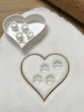 Love Heart Paw Print Cookie Cutter For Biscuits, Pastry, Fondant