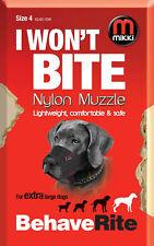 No Bite Bark MIKKI SOFT NYLON DOG MUZZLE - 13 Sizes