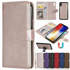 For iPhone 11 Pro MAX X SE 7 8 Plus Magnetic Removable Leather Wallet Case Cover